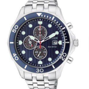 Citizen Eco-Drive Chronograph Blue Dial Watch